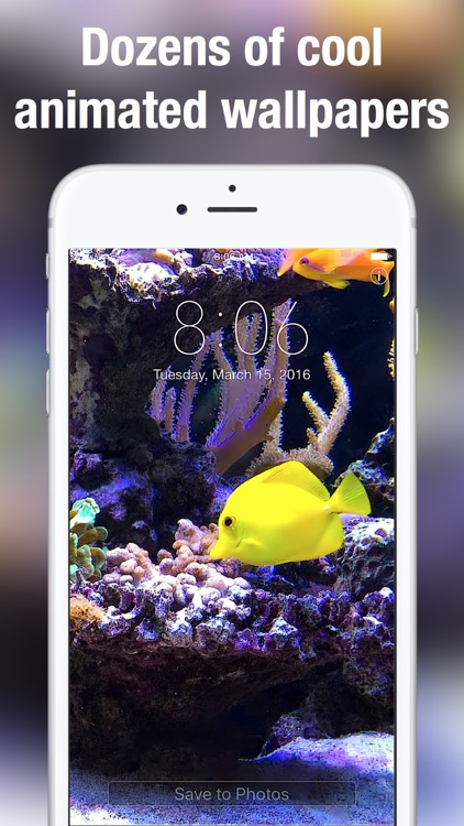 Aquarium Live Wallpapers for Lock Screen: Animated backgrounds for iPhone screenshot-3