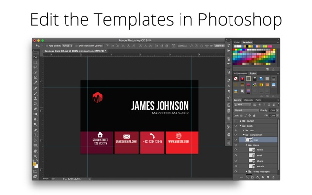 Business card templates for photoshop on the mac app store business card templates for photoshop on the mac app store reheart Image collections