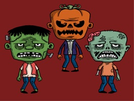 Halloween Stickers - Scary Halloween Monsters