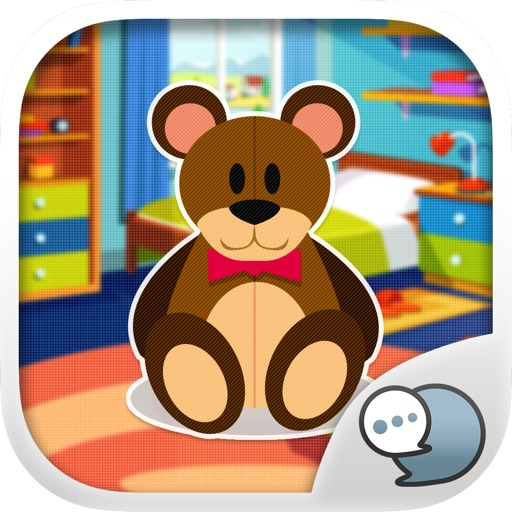 Teddy Bear Emoji Sticker Keyboard Themes ChatStick