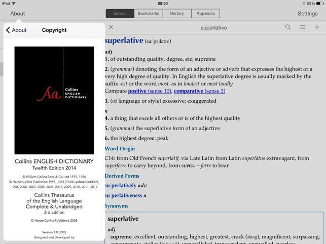 Collins Dictionary Thesaurus On The App Store
