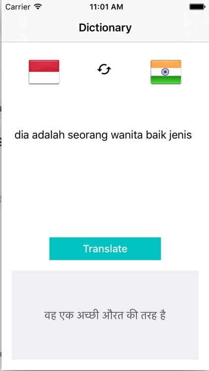 Translate Indonesian to Hindi Dictionary - Hindi to Indonesian Translation