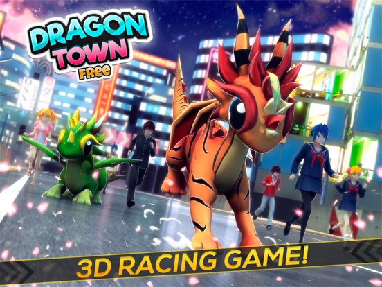 Dragon Town | The Baby Dragons World Racing Sim-ipad-0