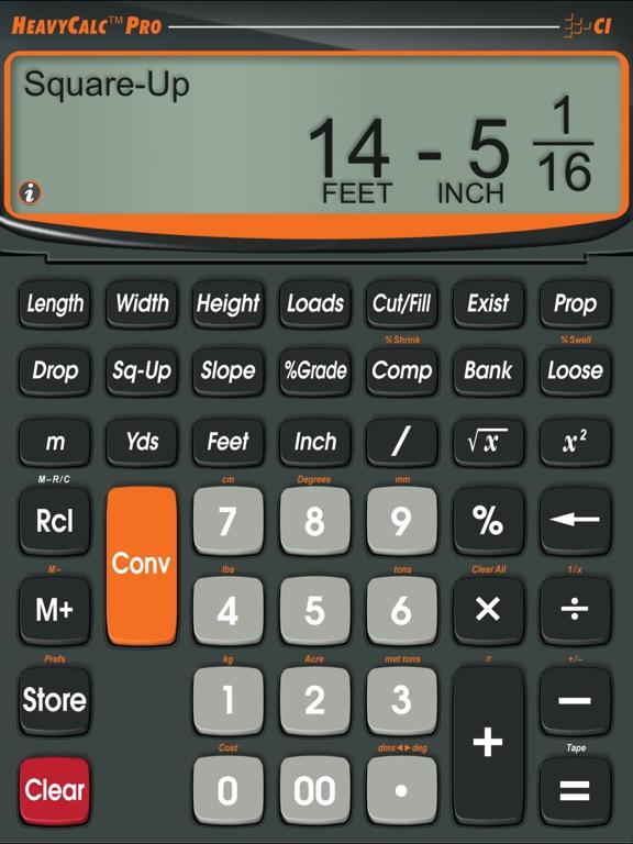 Heavycalc Pro Feet Inch Cubic Yard Calculator App Price Drops