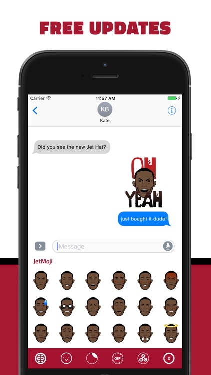 JetMoji - Official Julio Jones Emoji Keyboard screenshot-4