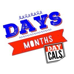 DayCals: Days & Months Calendar Stickers