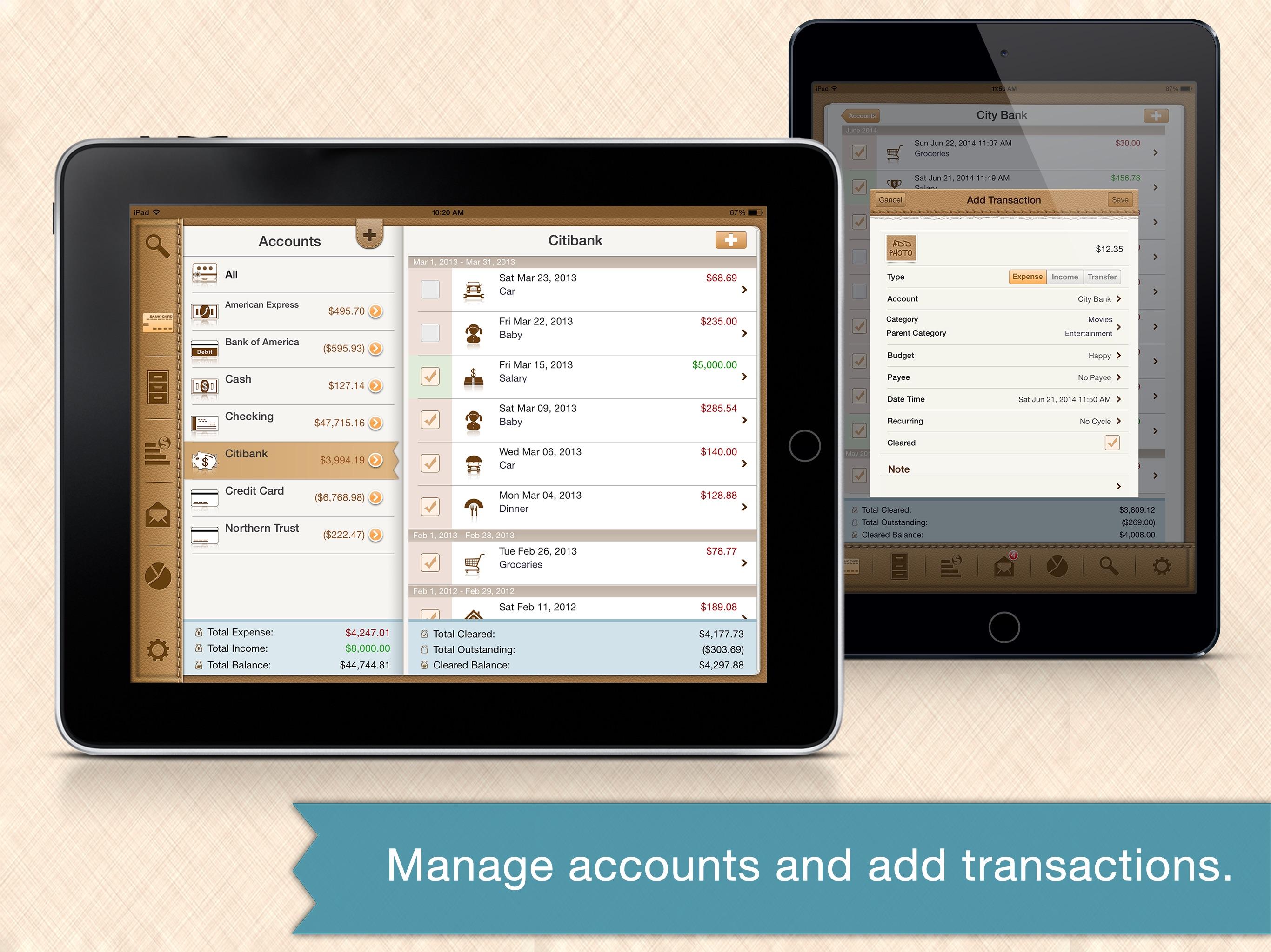 Money Monitor Pro for iPad - Budget & Bill Manager Screenshot