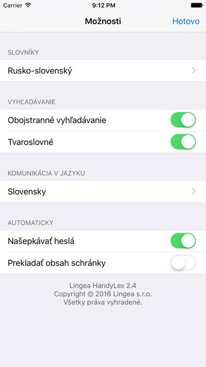 Lingea Rusko-slovenský vreckový slovník screenshot-4