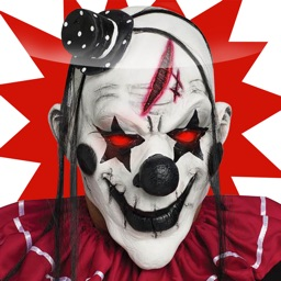 Killer Clown Makeup & Dress Up Montage Stickers