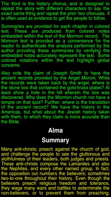 Summary Book of Mormon (part II)