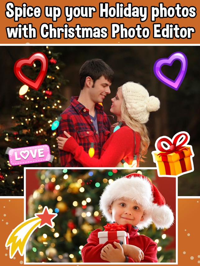 christmas photo editor capture moments on the app store