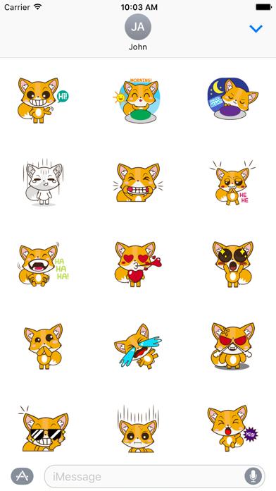 Cute Fox Sticker For iMessages