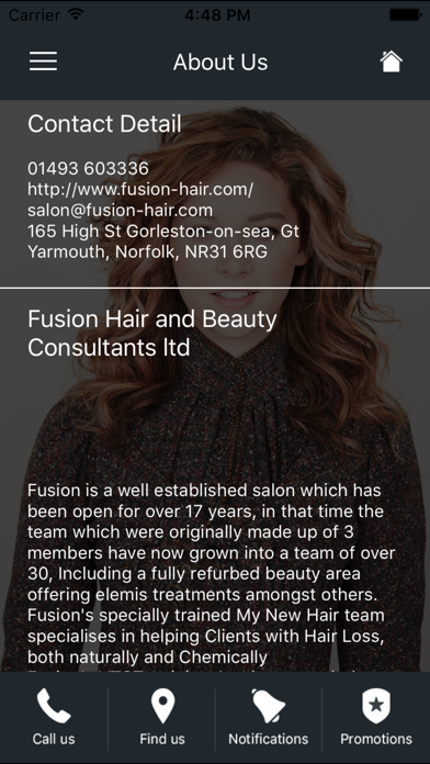 Fusion Hair and Beauty Ltd screenshot two