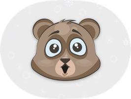 Cuddlebug Teddy Bear Emoji  -Stickers