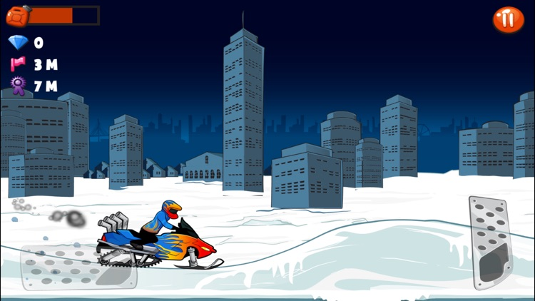 Snowmobile Stunt Racing Game screenshot-3