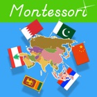 Flags of Asia - Montessori Geography icon