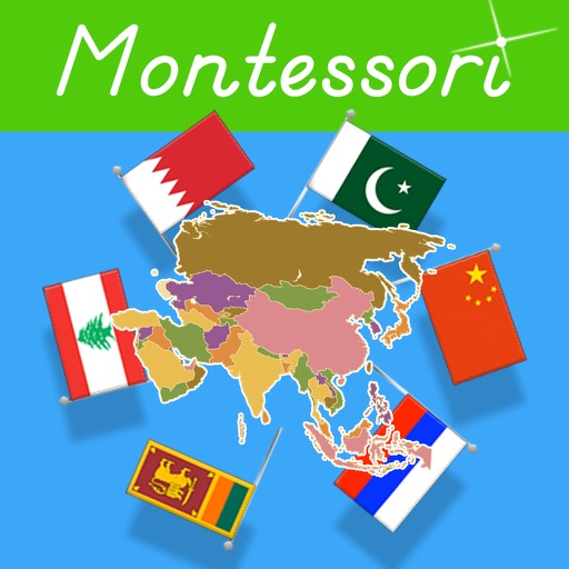 Flags of Asia - Montessori Geography