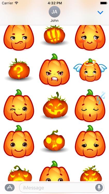 Happy Halloween Pumpkin Sticker Pack 02
