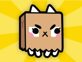 Up your texting game with playful animated stickers of Paper Bag Cat and add on accessories
