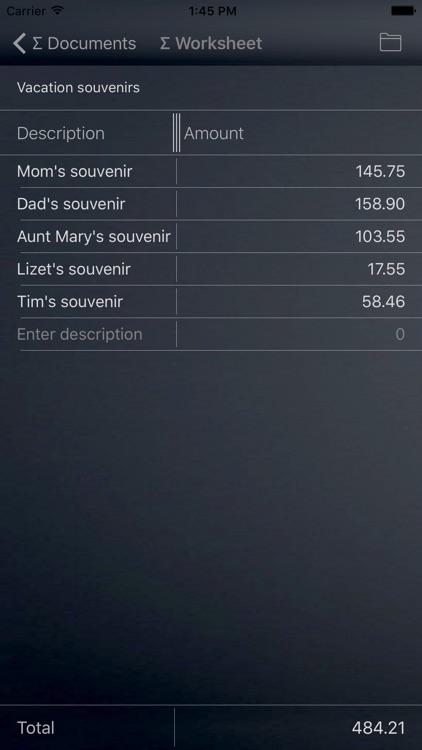 Sum Calculator & Spreadsheet
