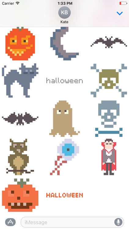 Pixel Halloween Stickers for iMessage