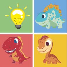 Activities of Dinosaur planet remember game preschool matching