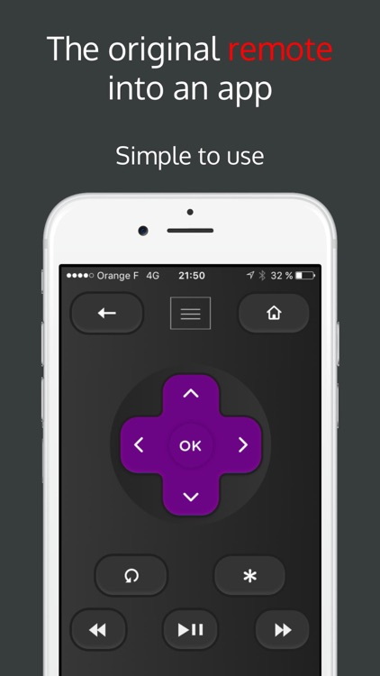 Rokumotee - remote for Roku screenshot-1