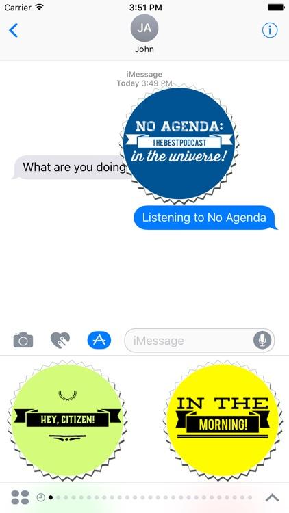 No Agenda Podcast Stickers