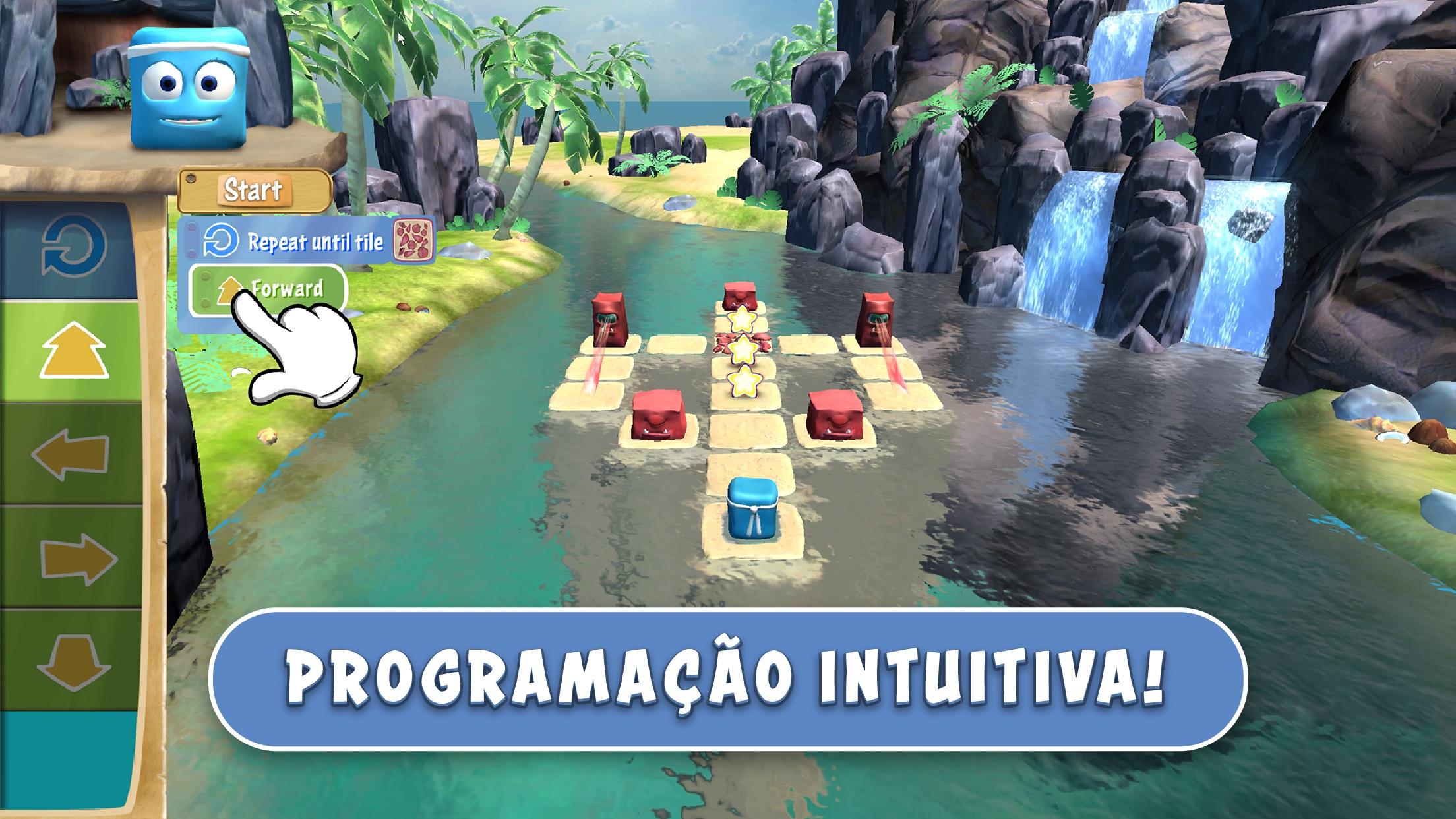 Screenshot do app Box Island - Premiada Aventura da Programação