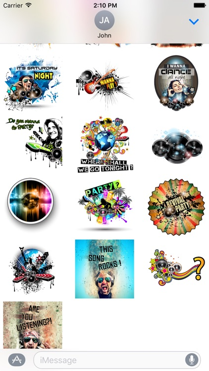 Let's Party Stickers for iMessages screenshot-3