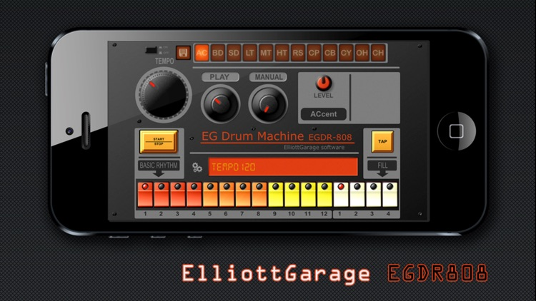 EGDR808 Drum Machine HD screenshot-0