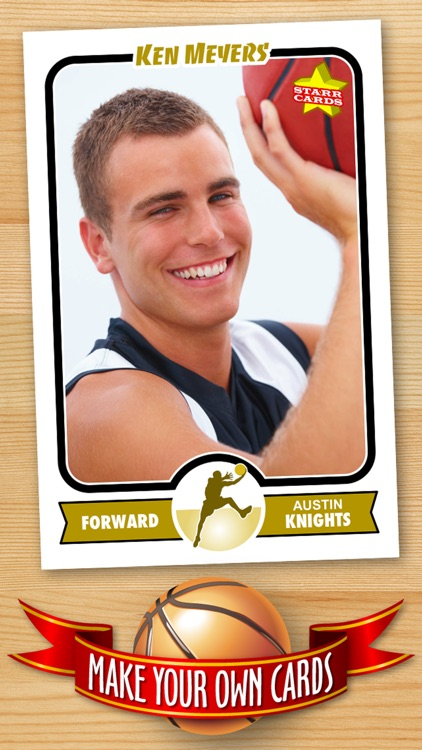 Basketball Card Maker (Ad Free) - Make Your Own Custom Basketball Cards with Starr Cards screenshot-0