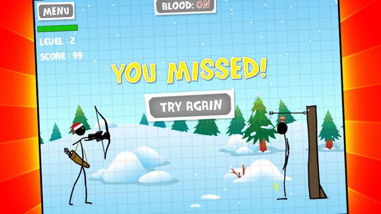 Gingerbread Stickman Bow & Arrow Shooting Showdown screenshot-3