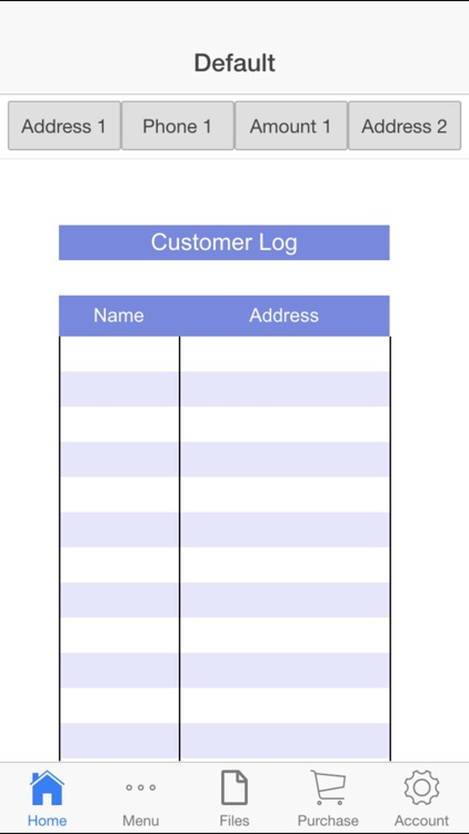 Customer Log