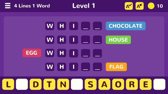 4 Lines 1 Word Screenshot