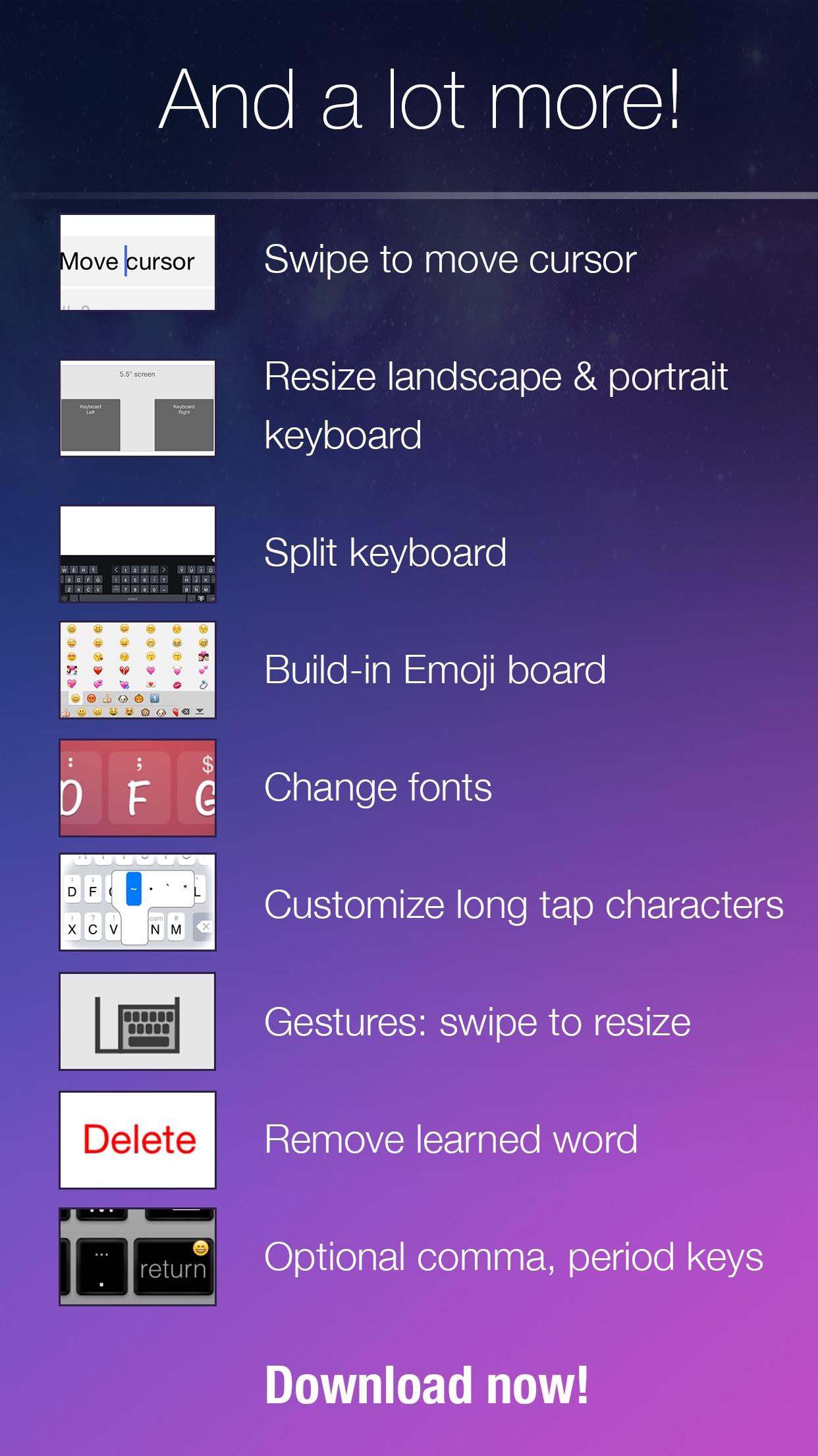 Screenshot do app Blink Keyboard-one-hand, fast