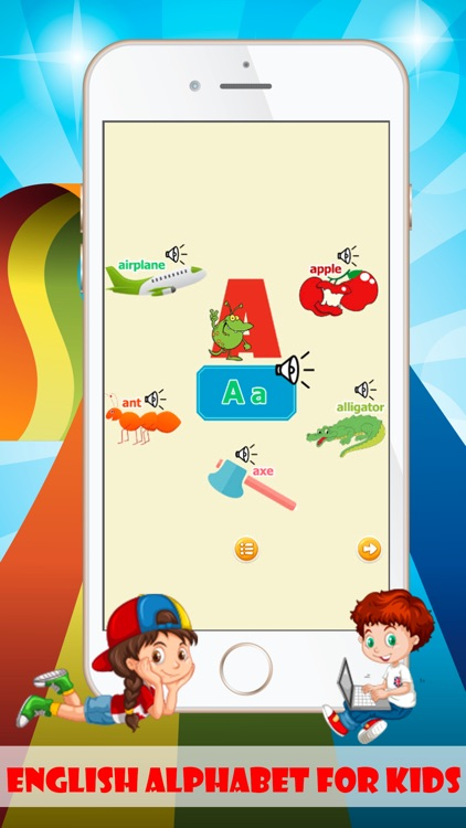 alphabet flash cards games for toddlers and baby screenshot-3