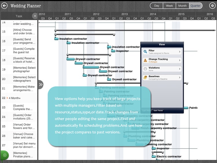 Project Management - MS Gantt Chart & Task Planner screenshot-4