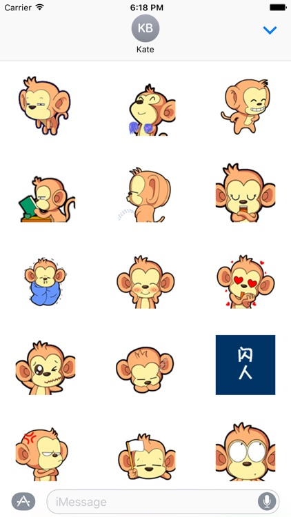 Naughty Monkey Sticker Pack