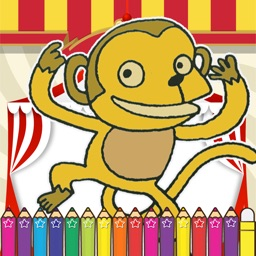 Monkeys Coloring Fun for kids the Fifth Edition
