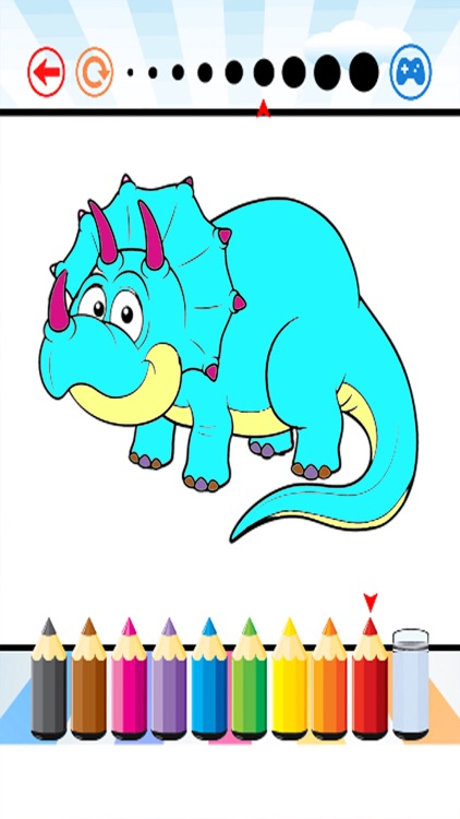 Dinosaur Coloring Book - Dino Paint for Kids screenshot-3
