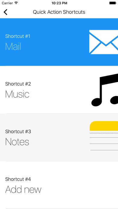 Shortcuts (Quick Open) screenshot three