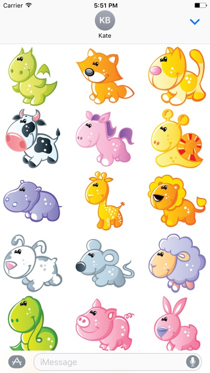 Cute Animals Sticker - DHS Pack 02