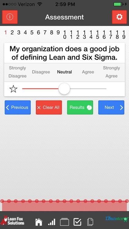 Healthcare Lean Organizational Assessment screenshot-3