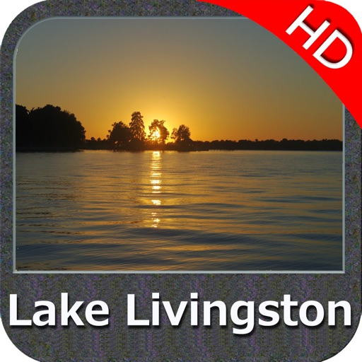 Lake Livingston Texas HD GPS fishing chart offline
