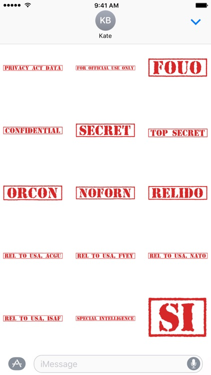 Top Secret Classification Stickers