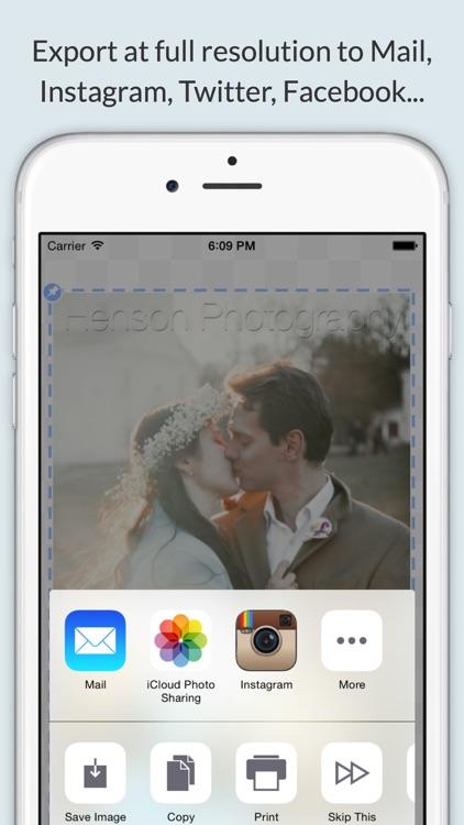 iWatermark+ Lite Add Watermark screenshot-4