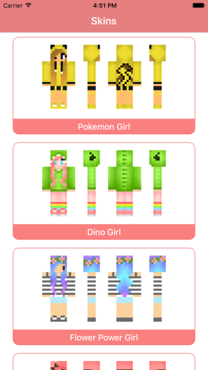 Girl Skins For Mcpe Skin Parlor For Minecraft Pe On The
