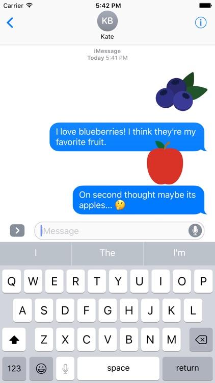 Fruits Sticker Pack for iMessage screenshot-3