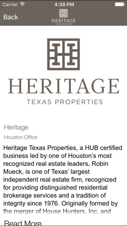 Heritage Texas Home Search screenshot-3